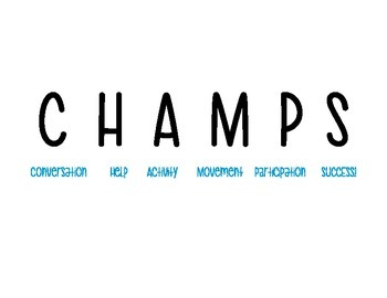 CHAMPS Posters Middle & High School