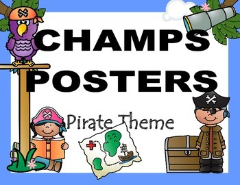 CHAMPS Posters Pirate Theme