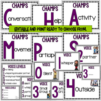 CHAMPS Posters- Purple Editable