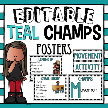 CHAMPS Posters- Teal~ Editable