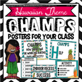 CHAMPS Posters- Tropical Theme