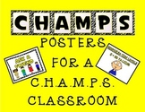 C.H.A.M.P.S. Posters (Yellow, White, and Black theme)