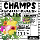 CHAMPS Posters and Clip Chart - Floral and Tropical Theme