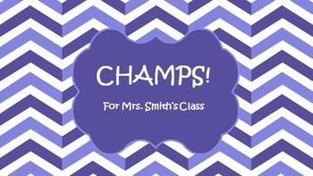 CHAMPS PowerPoint in Purple
