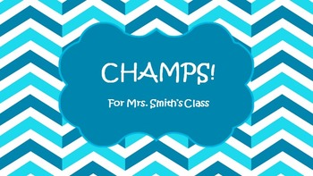 CHAMPS PowerPoint in Teal