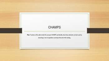 CHAMPS Review power point