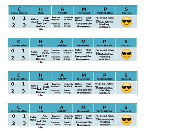CHAMPS Student Checklist