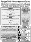 CHAMPS TEACHER Instruction One-Pager