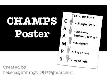 CHAMPS: Talk to the Hand Poster