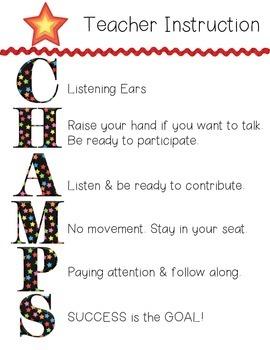 CHAMPS Teacher Instruction *NEW* (Little Monsters)