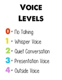 CHAMPS Voice Level Chart