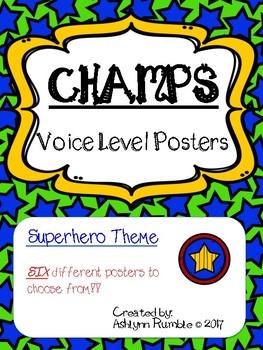 CHAMPS Voice Level Posters - Superheros