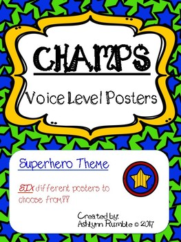 CHAMPS Voice Level Posters - Superheros