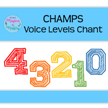 CHAMPS Voice Levels Chant & Poster