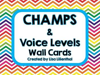 CHAMPS & Voice Levels Chevron Wall Cards {Editable}