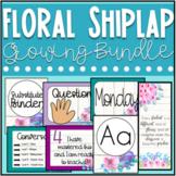 Floral Theme Shiplap Classroom Decor