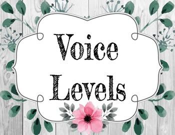 CHAMPS Voice Levels- Rustic Theme