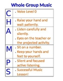 CHAMPS Whole Group Music Instruction EDITABLE