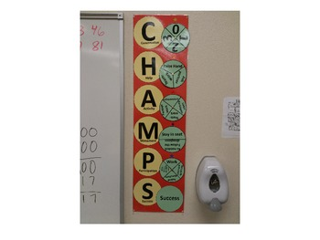 CHAMPS behavior wall chart