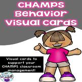 CHAMPS classroom behavior management VISUAL CARDS