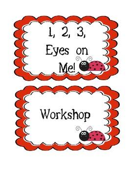 CHAMPS description posters - lady bug themed