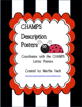 CHAMPS description posters - lady bug themed