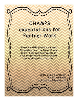 CHAMPS expectations for partner work