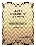 CHAMPS expectations for up and moving activities