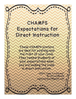 CHAMPS for direct Instruction
