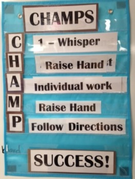 CHAMPS for pocket chart