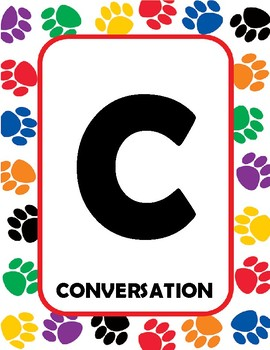 CHAMPS paw print boarder