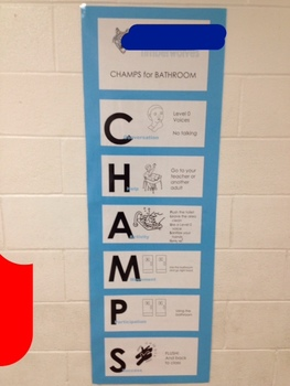CHAMPS poster for school hallways