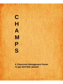 CHAMPS poster - walking into room