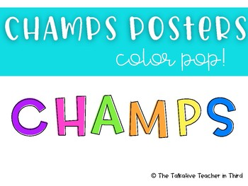CHAMPS posters - Bright Colors