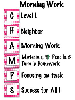 CHAMPS posters editable - Pink Chevron