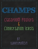 CHAMPS wall posters/conversation levels