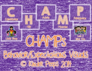 CHAMPs Behavior and Expectations Visuals