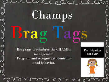 CHAMPs Brag Tags