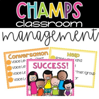 CHAMPs Classroom Management Posters