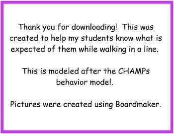 CHAMPs Line Behavior Expectations