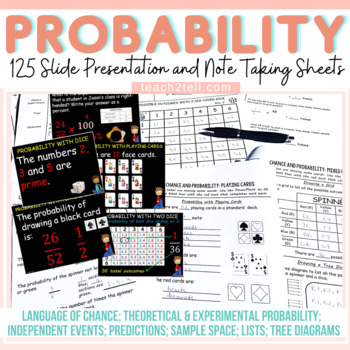CHANCE AND PROBABILITY: EDITABLE POWER POINT: INTERACTIVE NOTES
