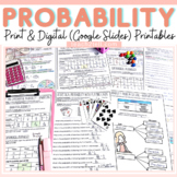 CHANCE AND PROBABILITY: PRINT-N-GO SHEETS: EDITABLE POWERPOINT
