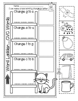 CHANGE A WORD...FEATURES CVC Words and BLENDS to Build Phonemic Awareness