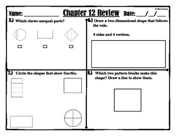 "CHAPTER 12 REVIEW "" GO MATH"""