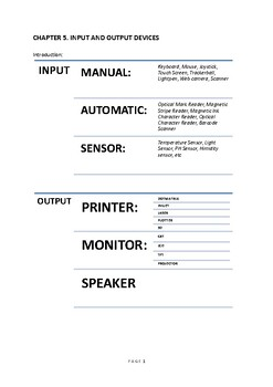 CHAPTER 5. INPUT AND OUTPUT DEVICES