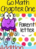 """CHAPTER ONE - """"Addition Concepts"""" Newsletter for Parents"""