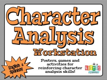 CHARACTER ANALYSIS  Workstation - English & Spanish!