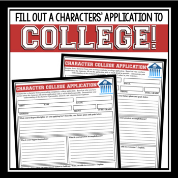 CHARACTER ASSIGNMENT - COLLEGE APPLICATION FOR ANY CHARACTER
