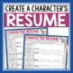 CHARACTER ASSIGNMENT FOR ANY NOVEL OR SHORT STORY - RESUME FOR A CHARACTER