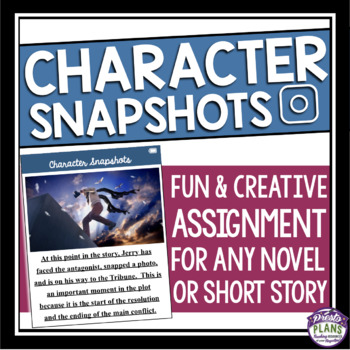CHARACTER ASSIGNMENT FOR ANY NOVEL OR SHORT STORY: SOCIAL MEDIA PICTURES